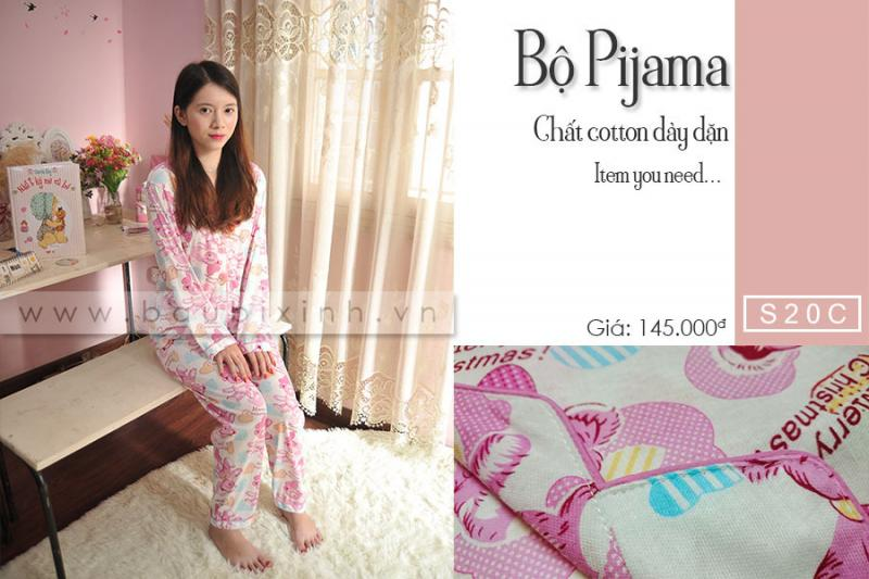 BỘ PIJAMA COTTON GẤU MERRY CHRISTMAS