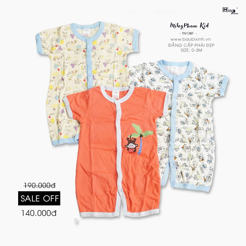 NEXT BABY ( SET 3 BỘ BODY CỘC TAY 3M)