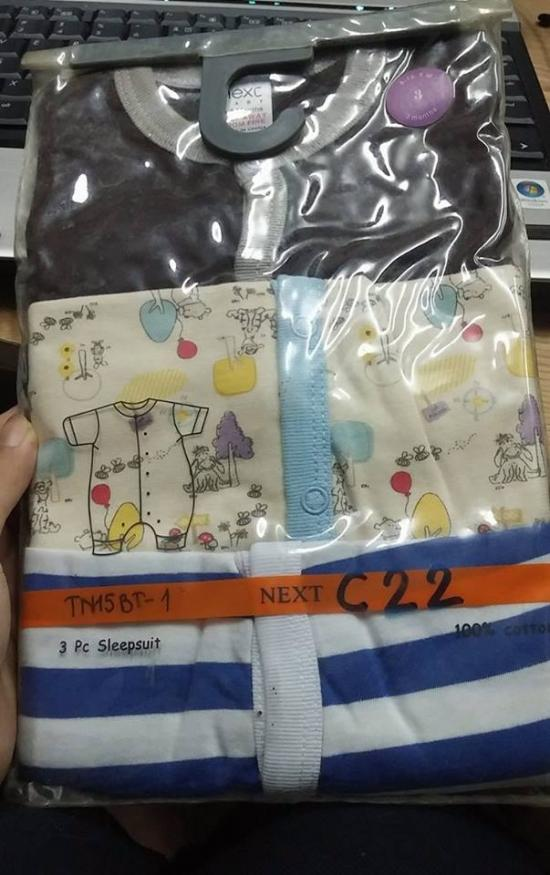 NEXT BABY ( SET 3 BỘ BODY CỘC TAY)
